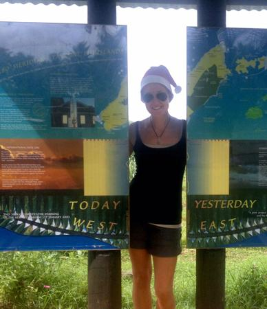 Lena auf den Fidschi-Inseln