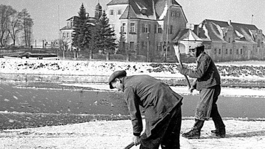 Grimmige Kälte und starke Männer sorgten für volle Eiskeller