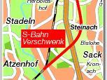 Während die Deutsche Bahn den S-Bahn-Verschwenk durch das Knoblauchsland will, möchte Fürth den Ausbau entlang der Bestandsstrecke.