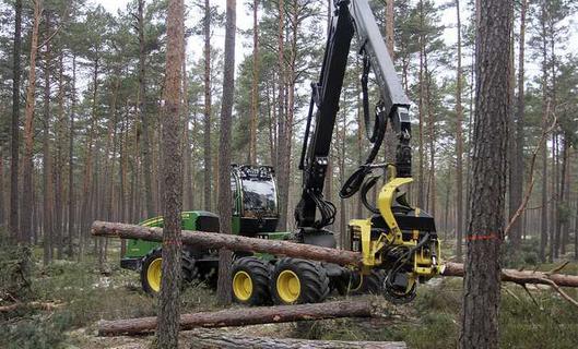 Harvester bei Plech ausgebrannt: 300.000 Euro Schaden