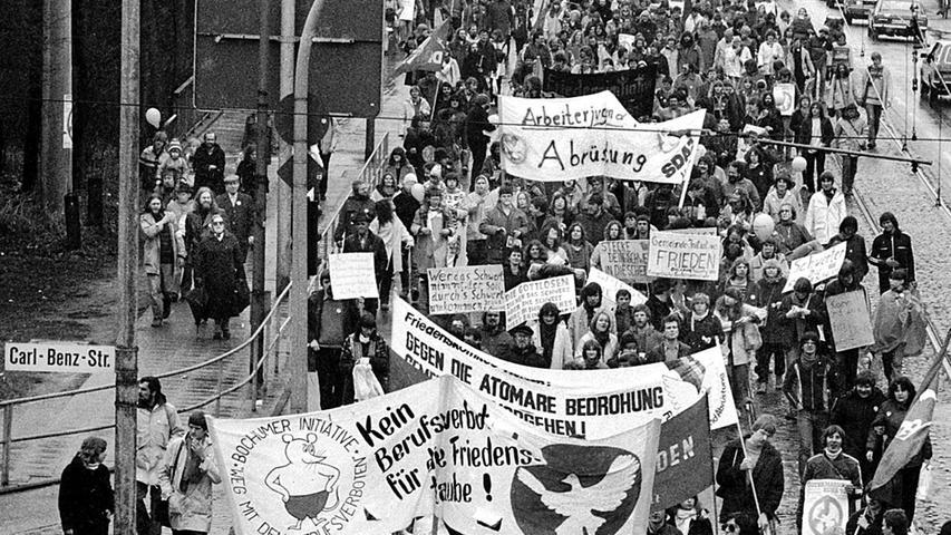 Ostermarsch in Duisburg 1982.