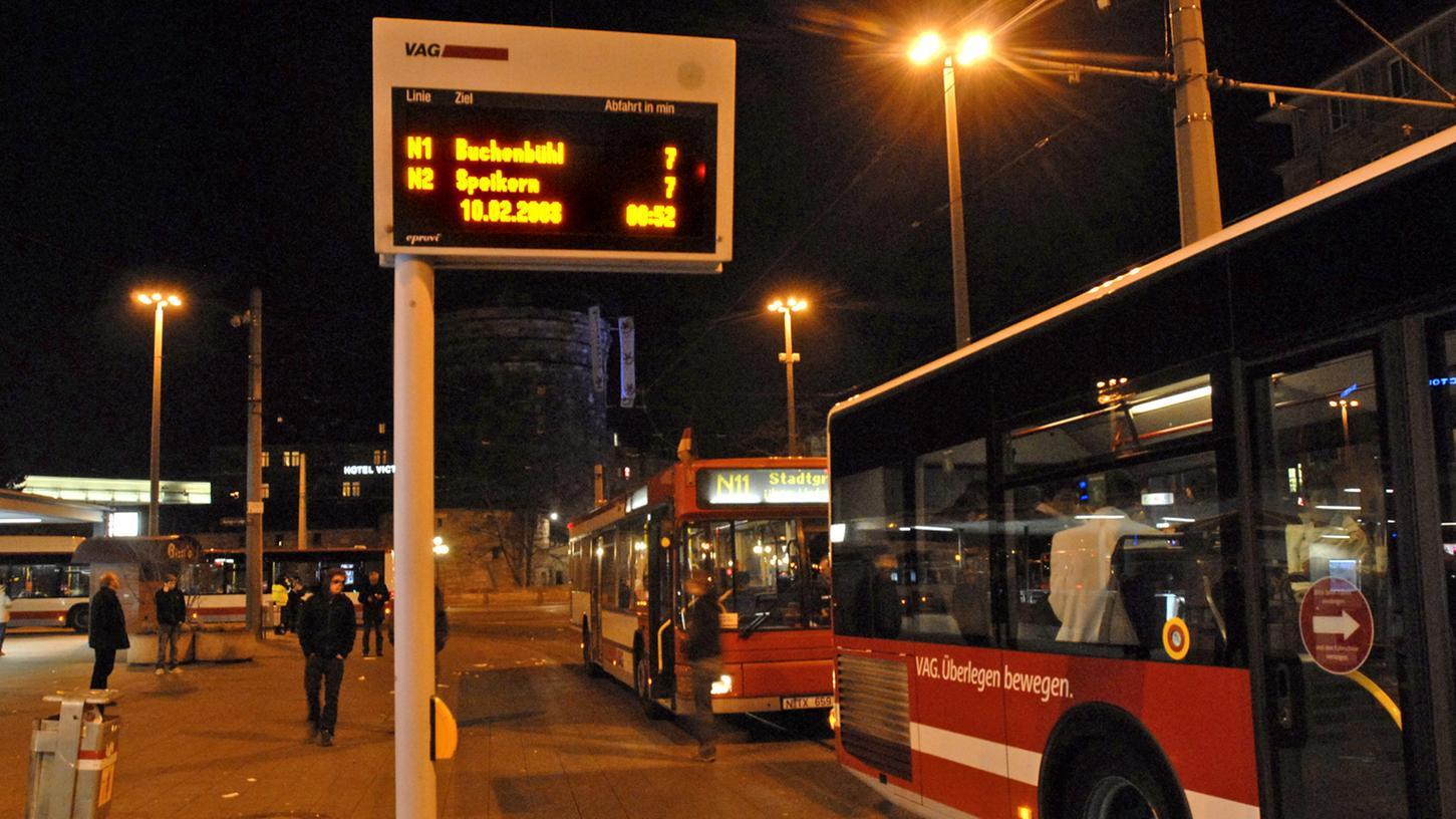 Fahren die Nightliner demnächst schon am Donnerstag? Die Stadt Nürnberg und die VAG sind dagegen.