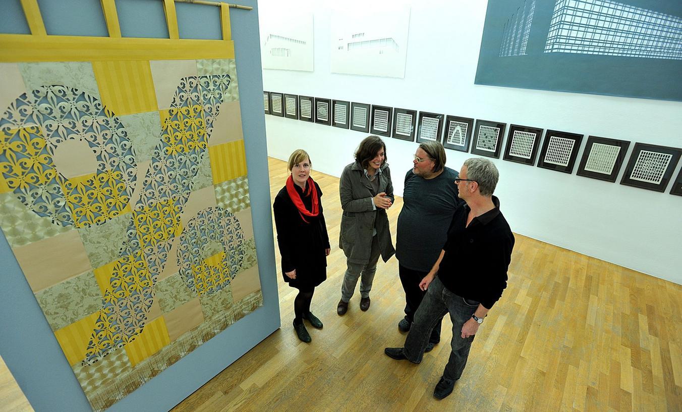 Unter Fachleuten hat sich die Kunstgelerie -  hier die Gruppen-Ausstellung von Cut.X im September - einen guten Ruf erworben.