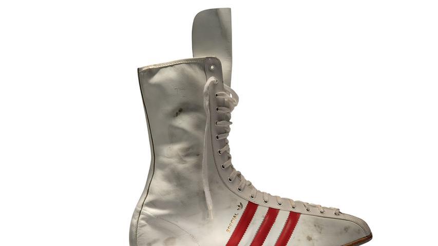 Die Boxschuhe von Adidas sind bis heute sehr gefragt.