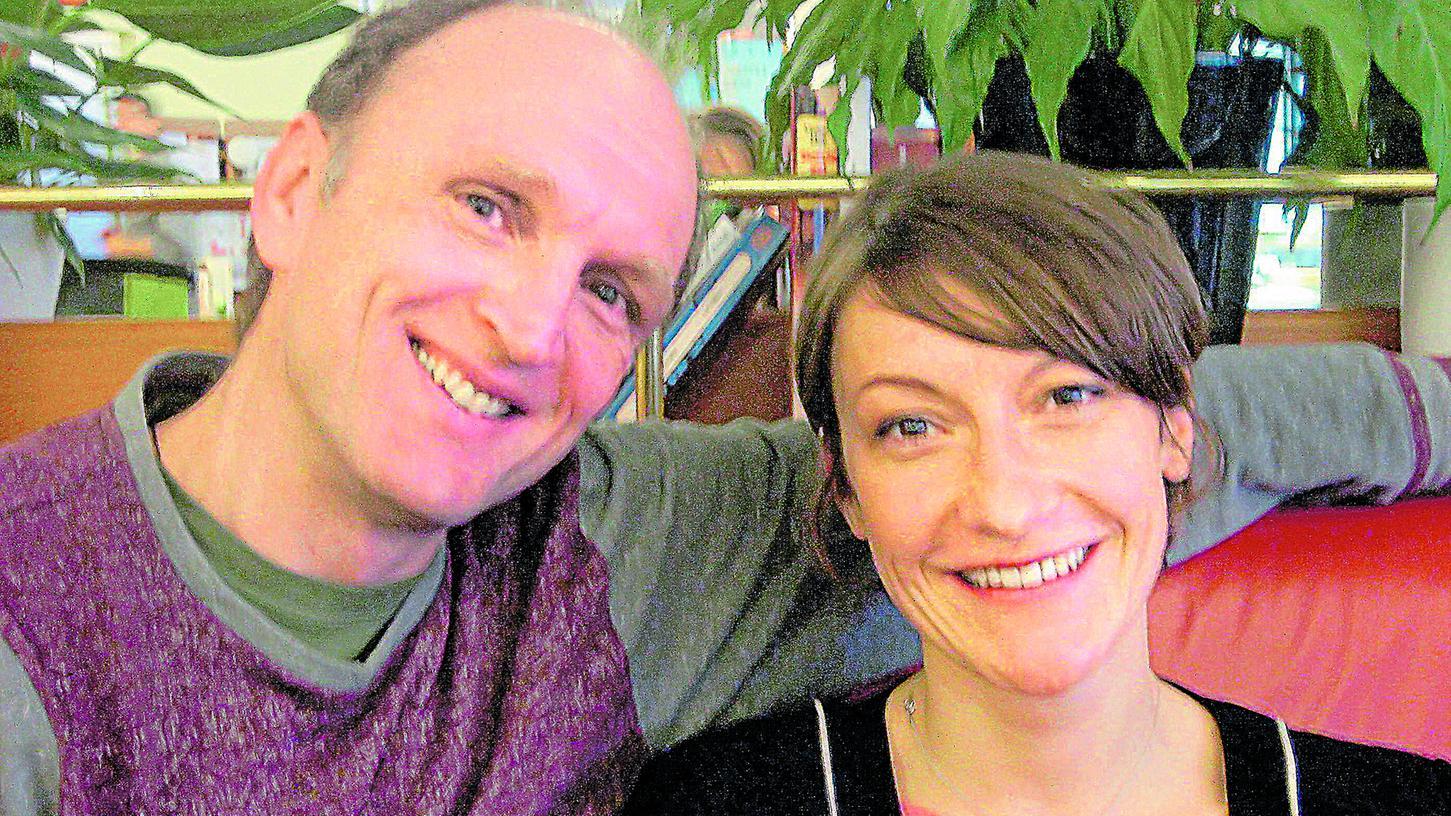 Zwei der Macher des urbanen Gartenprojekts: Frank Braun und Manja Rupprecht vom Verein Bluepingu.