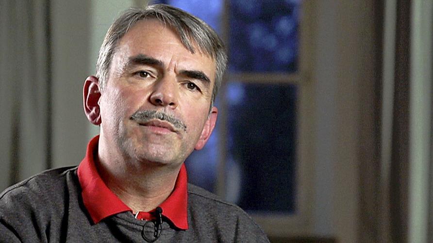 Der Nürnberger Gustl Mollath — hier ist er bei einem Gespräch mit Journalisten im Bayreuther Bezirkskrankenhaus zu sehen — hofft auf eine vollständige Rehabilitierung.