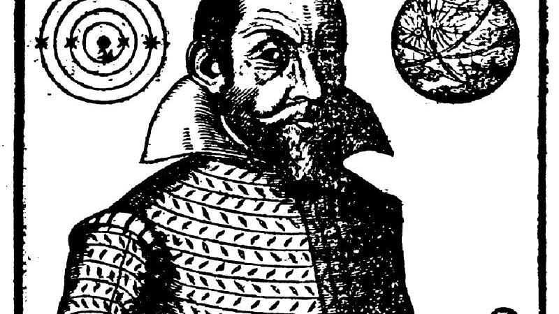 """Diese Darstellung von Simon Marius ist dem Werk """"Mundus lovialis"""" entnommen."""
