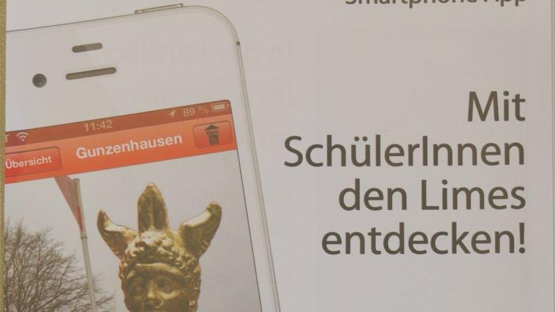 """Mit diesem Flyer wirbt """"Limes Mittelfranken-Mobil""""."""