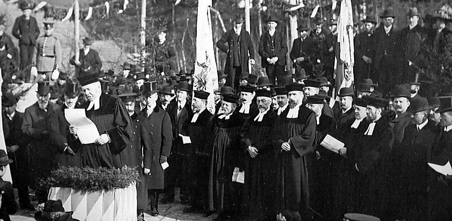 Dietersdorfer Kirche: Grundsteinlegung 1913