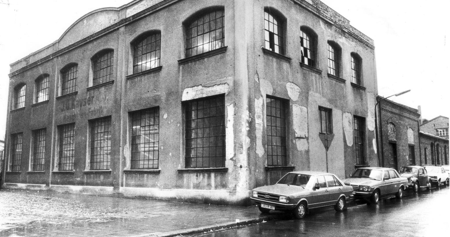 Die Inhaber wurden 1938 zum Verkauf gezwungen: Die einstige Maschinenfabrik Kayser an der Stephanstraße vor dem Abbruch 1990.