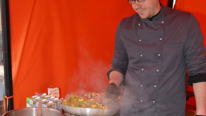 ... oder sich mit frischgekochten veganen Gerichten von Innen wärmen.