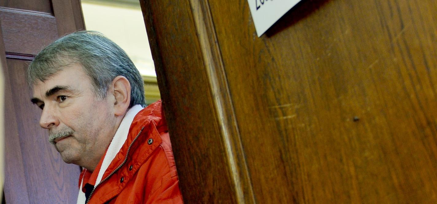 Gustl Mollath kommt zu einer Anhörung im Landgericht Bayreuth.