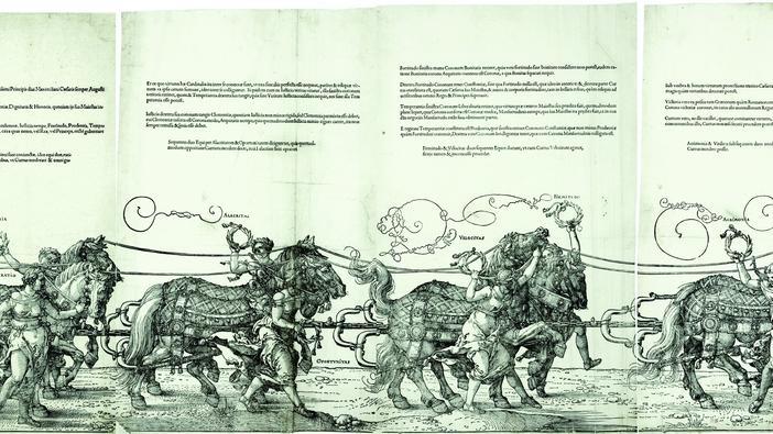Weil Kaiser Karl V. seinen Besuch in Nürnberg angekündigt hatte und den Stadtoberen der Rathaussaal zu schäbig vorkam, bekam Albrecht Dürer noch schnell den Auftrag, dort die Wände zu bemalen. Mit Hilfe seiner Mitarbeiter...