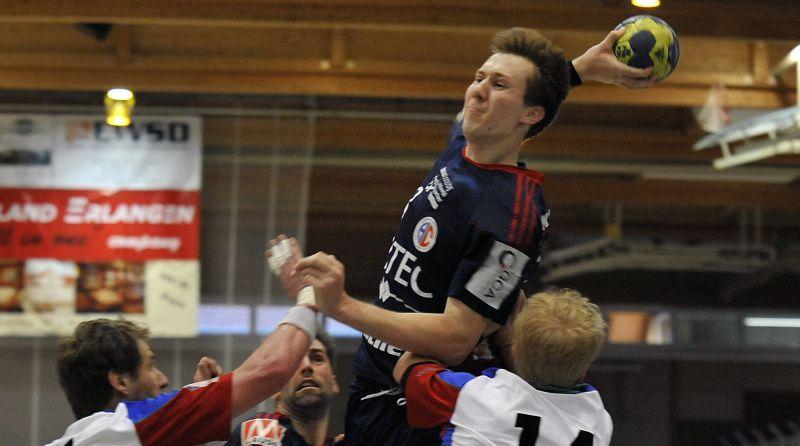 In den Schlussminuten wurde er zum Matchwinner: HCE-Mann Nikolai Link.