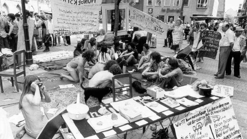 ...demonstrierten 1981 in der Innenstadt.