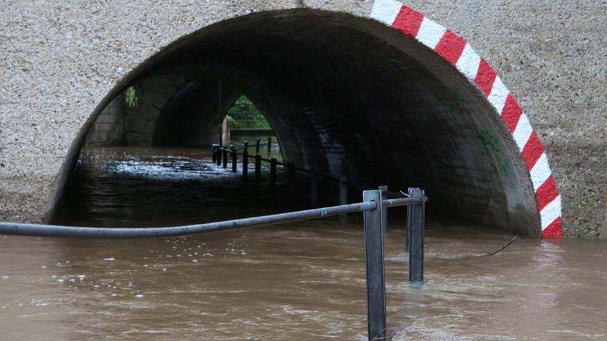 ...stand zum Zeitpunkt des Hochwassers komplett unter Wasser.