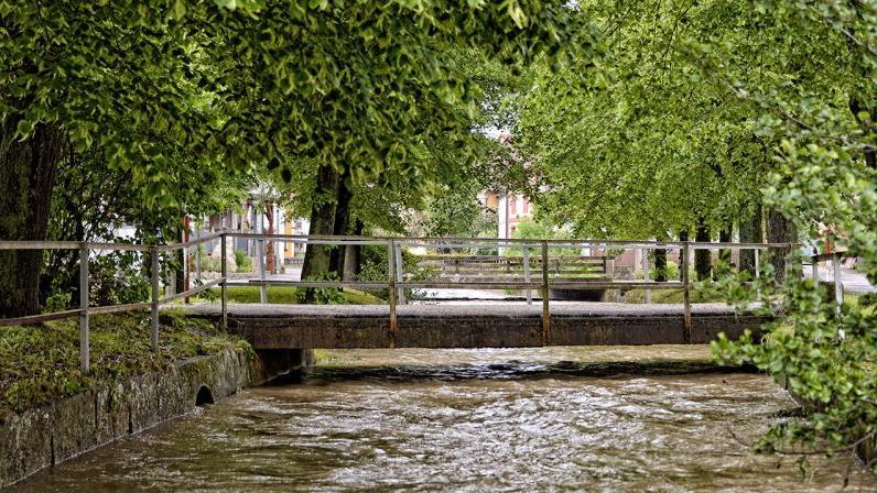 In Wiesengiech sind Mühlbach und Leitenbach über die Ufer getreten.