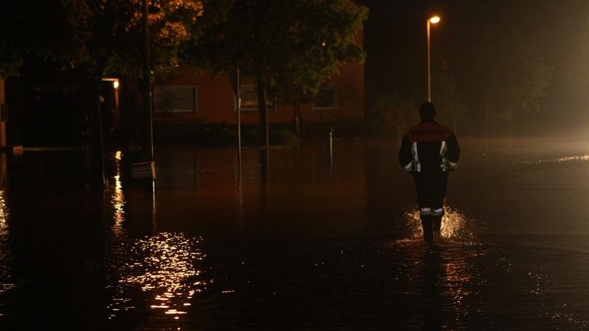 Den Bewohnern von Leutenbuch war aufgrund des Hochwassers keine erholsame Nachtruhe gegönnt.