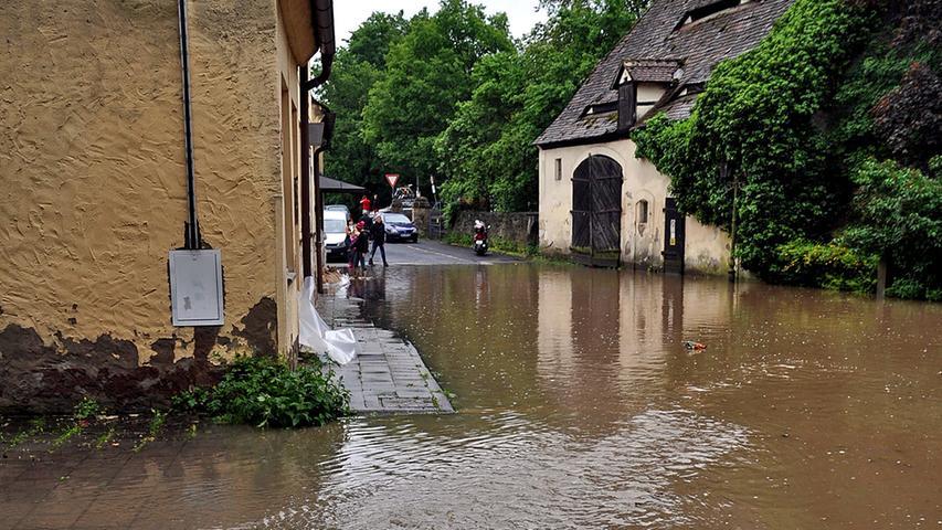Manch einem war trotz des Hochwassers...