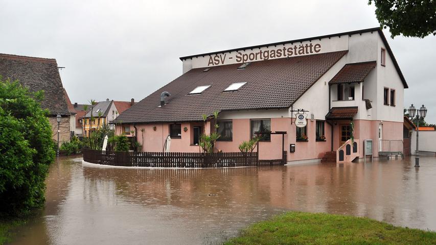 An Sport war bei dem schlechten Wetter...