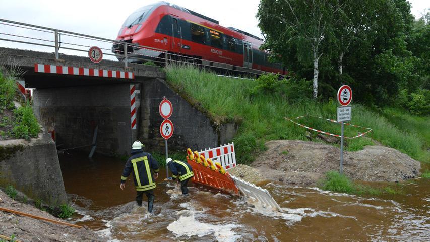 Bahn sorgte in Eltersdorf für vollgelaufene Keller