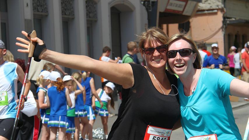 Hobbyläufer, Staffelläufer und Nordic-Walker geben alles