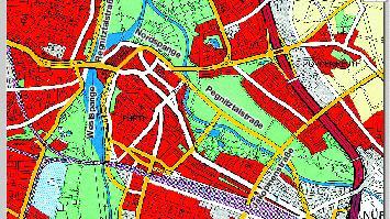 Gut zu erkennen sind die geplanten Straßen in dieser Wahlbroschüre aus den 70ern.