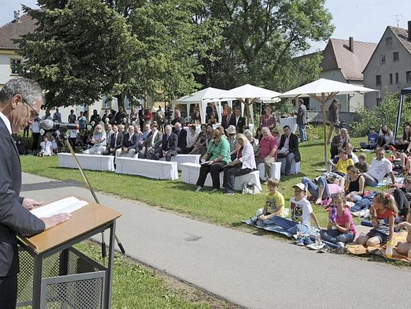 Das Orchester der Volkshochschule und des Gymnasiums Beilngries spielte zwei Sätze aus Glucks Regensburger Symphonie.