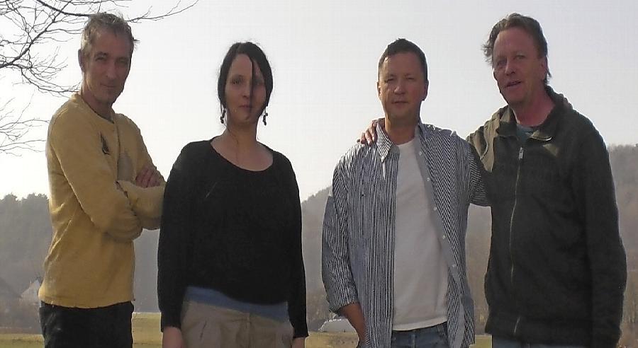 Die Transitpiloten um Harald Kupfer (2. von links).