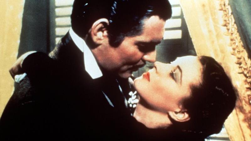 ...stellt der Kuss zwischen Scarlett O'Hara (Vivien Leigh) und Rhett Butler (Clark Gable) in dem Film