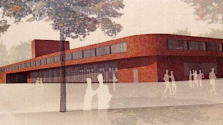 Ein Klinkerbau mit geschwungener Fassade: So könnte die neue Wache einmal aussehen.
