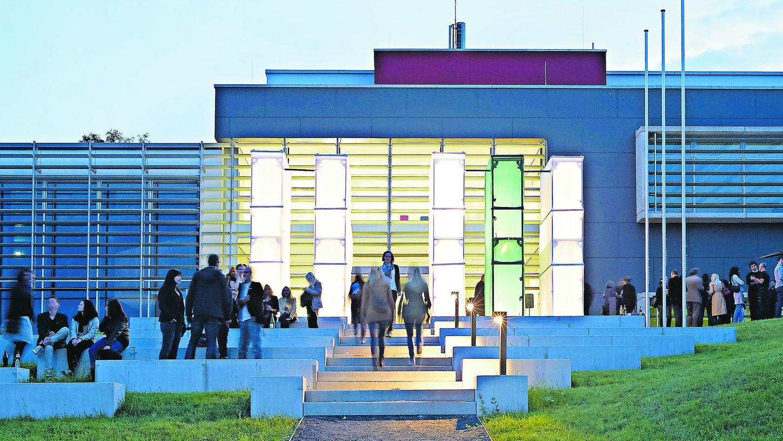"""Schauplatz des """"7. Wissenschaftstages"""" der Metrolpolregion Nürnberg: der Campus der Hochschule Coburg."""