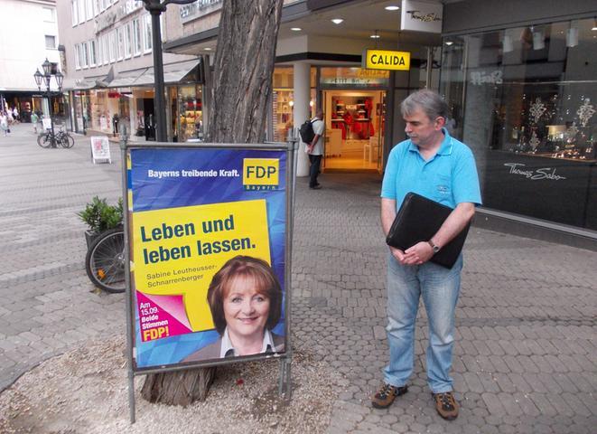 Das Motto der bayerischen FDP
