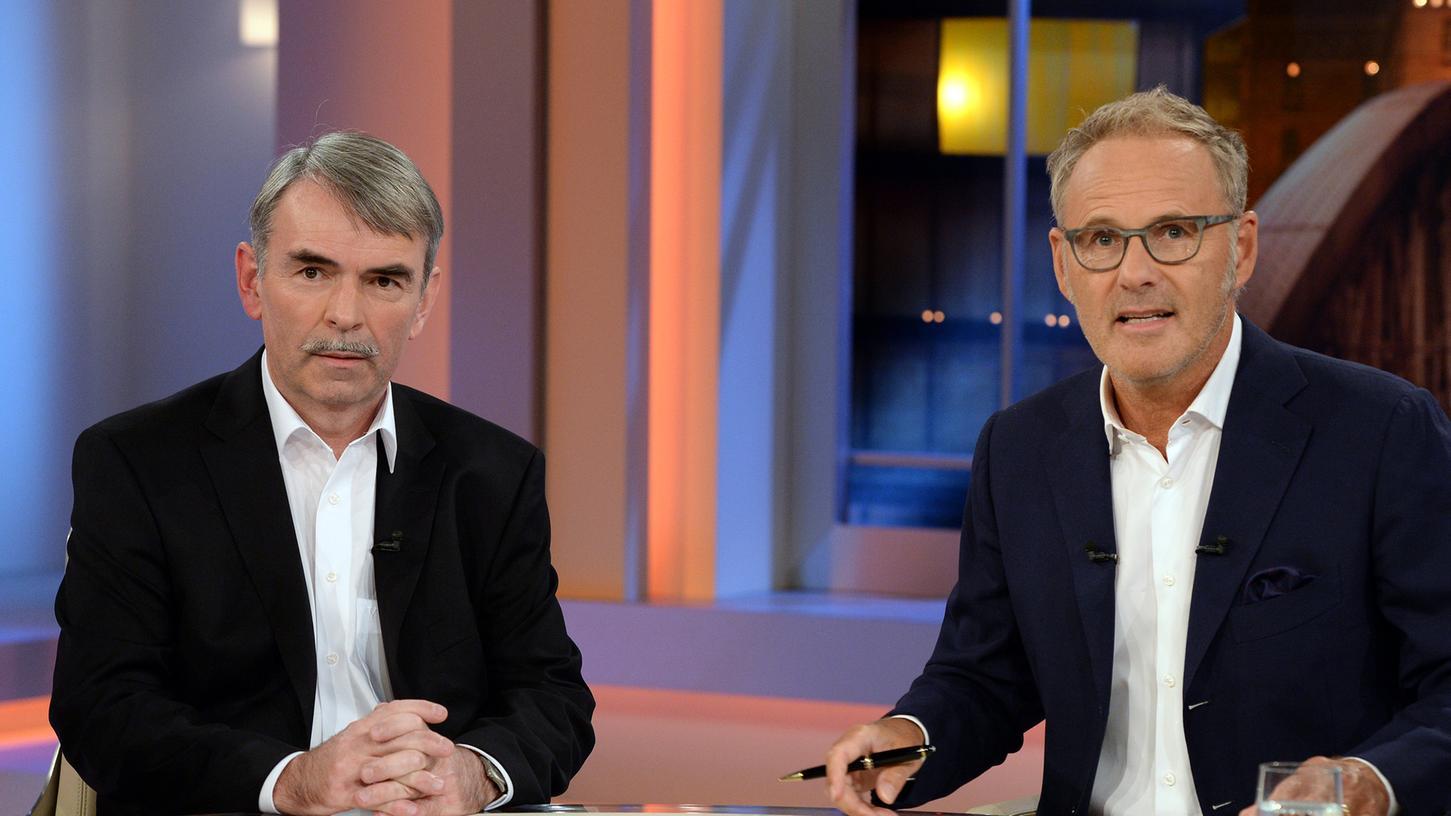 Der Fall Gustl Mollath war am Donnerstag 75 Minuten lang Thema bei Reinhold Beckmann (rechts).