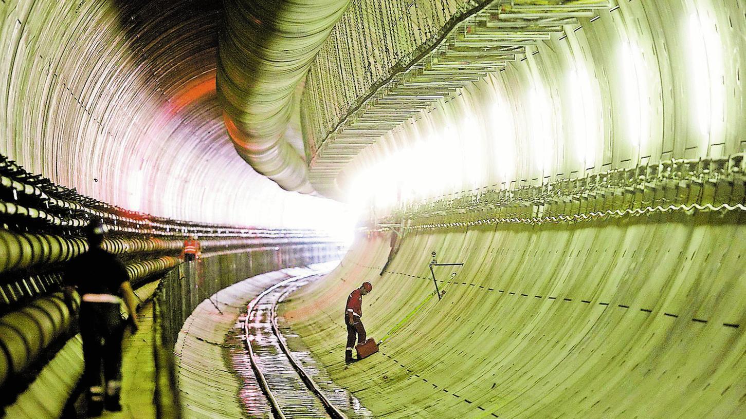 Stattliches Referenzprojekt von Bögl: der Bahntunnel bei Münster-Wiesing in Österreich.