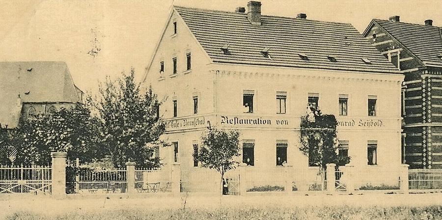 """Die Blütezeit der """"Restauration zum Brausebad"""" ist längst vorbei. Das Bild von von Fritz Hassler stammt aus dem frühen 20. Jahrhundert."""