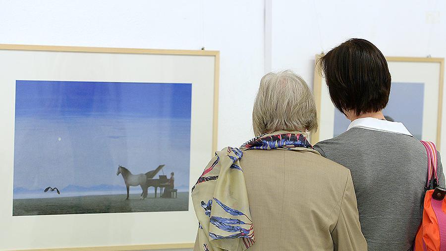 Zahlreiche Gäste ließen sich von den Bildern bei der Vernissage inspirieren.