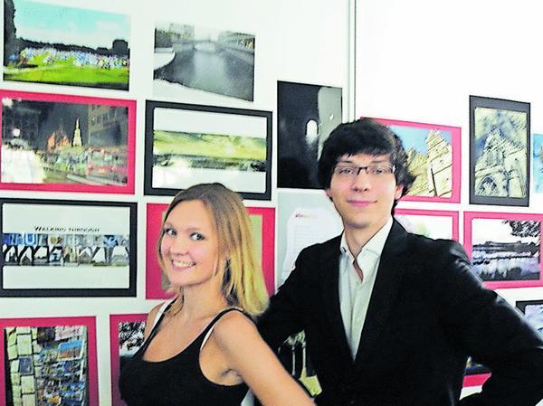 Die beiden ehemaligen Peter-Vischer-Schüler überzeugten beim Wettbewerb: Pascale Beekmann und Dominik Vietinghoff.