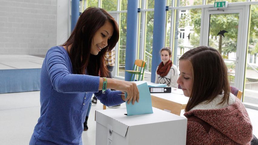 Wenn schon Politik auf dem Stundenplan steht, warum nicht gleich selbst wählen?  Am Herder-Gymnasium Forchheim haben die Zehnt- und Elftklässler an der  bundesweiten Juniorwahl, einer Simulation der Bundestagswahl, teilgenommen. Wir  haben beim Wählen und Auszählen zugeschaut.