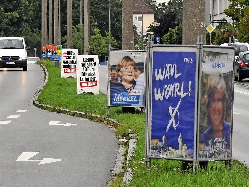 Noch hängen die Wahlplakate: Dagmar Wöhrl hofft, den traditionell hart umkämpften Wahlkreis Nürnberg-Nord zum fünften Mal zu gewinnen.