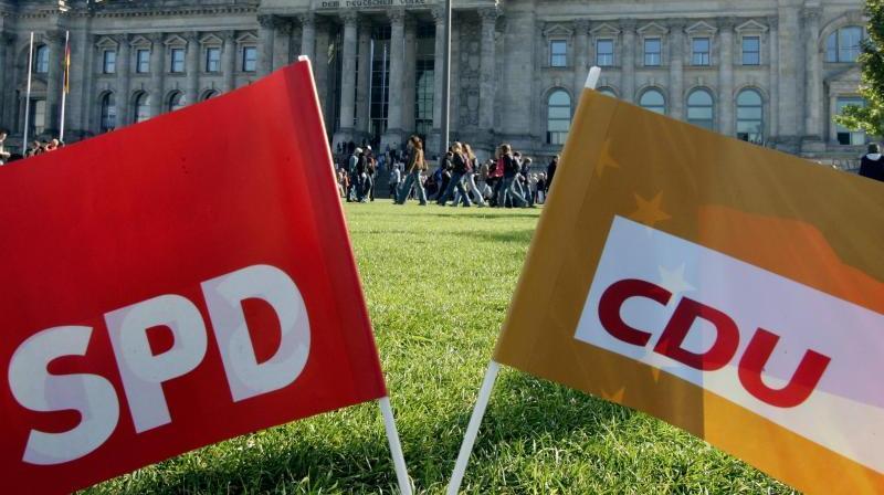 Spitzen von Union und SPD einigten sich am Mittwochmorgen auf einen Koalitionsvertrag.