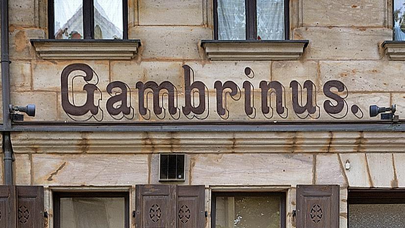 Gambrinus, der mysteriöse Bier Schöpfer.