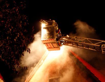 Feuer in Dentlein: Wintergarten in Flammen