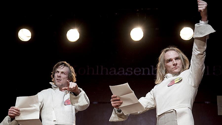 Auf zum Kampf: Clemens Giebel und Christian Wincierz (rechts).