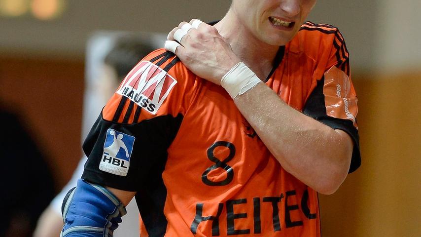 Die Partie blieb nicht ohne Folgen. So klagte Sebastian Preiß über Schmerzen an der Schulter...
