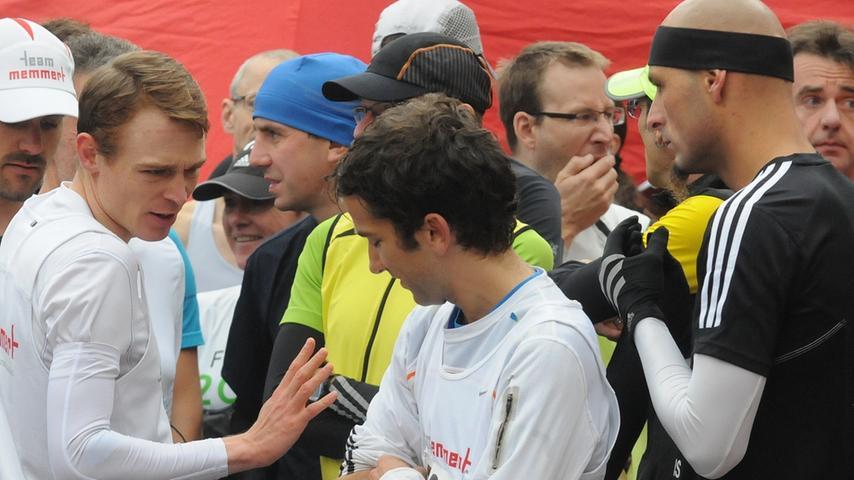 Nach Reinwand und Katib lief der Ansbacher Christian Strauch (rechts) ins Ziel.