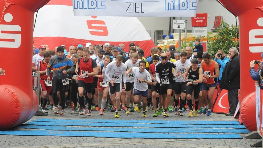 ... war der Start des Sparkassen-Halbmarathons angesetzt.