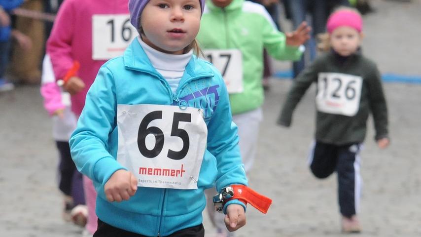Für alle jungen Läufer gab es einen Eisgutschein.