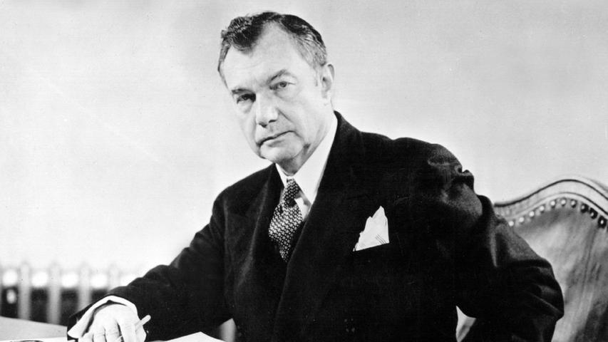 Der US-Chefankläger in den Nürnberger Kriegsverbrecherprozessen, Oberrichter Robert H. Jackson, aufgenommen 1946.
