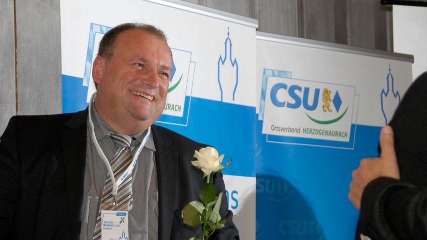 CSU-Mann Walter Nussel darf sich freuen. Denn nachdem er im Stimmkreis Erlangen-Höchstadt 35,05% erhielt, darf er die Koffer packen und nach München ins